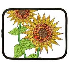 Sunflowers Flower Bloom Nature Netbook Case (large)