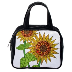 Sunflowers Flower Bloom Nature Classic Handbags (One Side)