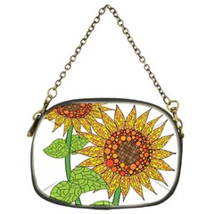 Sunflowers Flower Bloom Nature Chain Purses (Two Sides)