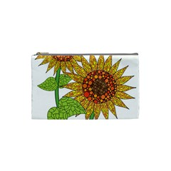 Sunflowers Flower Bloom Nature Cosmetic Bag (small)