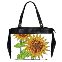 Sunflowers Flower Bloom Nature Office Handbags (2 Sides)