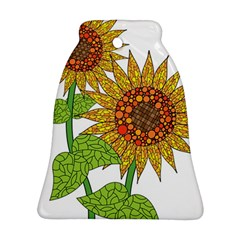 Sunflowers Flower Bloom Nature Bell Ornament (Two Sides)