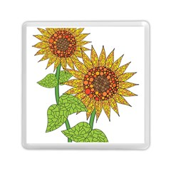 Sunflowers Flower Bloom Nature Memory Card Reader (square)