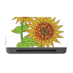 Sunflowers Flower Bloom Nature Memory Card Reader with CF