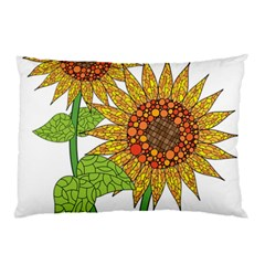 Sunflowers Flower Bloom Nature Pillow Case (Two Sides)