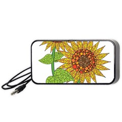 Sunflowers Flower Bloom Nature Portable Speaker (Black)