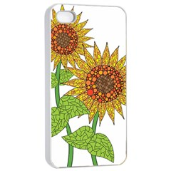 Sunflowers Flower Bloom Nature Apple iPhone 4/4s Seamless Case (White)