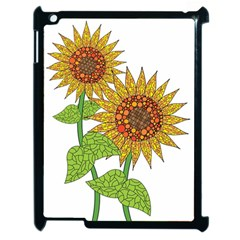 Sunflowers Flower Bloom Nature Apple Ipad 2 Case (black)