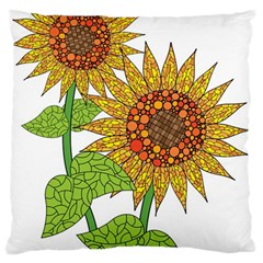 Sunflowers Flower Bloom Nature Large Cushion Case (Two Sides)
