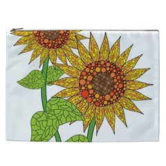 Sunflowers Flower Bloom Nature Cosmetic Bag (XXL)