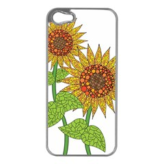 Sunflowers Flower Bloom Nature Apple iPhone 5 Case (Silver)