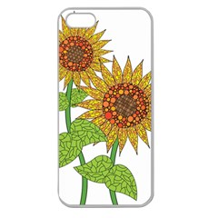 Sunflowers Flower Bloom Nature Apple Seamless iPhone 5 Case (Clear)