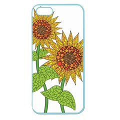 Sunflowers Flower Bloom Nature Apple Seamless iPhone 5 Case (Color)