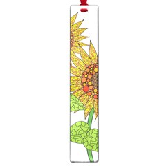 Sunflowers Flower Bloom Nature Large Book Marks