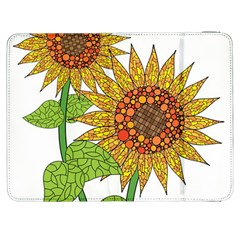 Sunflowers Flower Bloom Nature Samsung Galaxy Tab 7  P1000 Flip Case