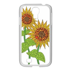 Sunflowers Flower Bloom Nature Samsung GALAXY S4 I9500/ I9505 Case (White)