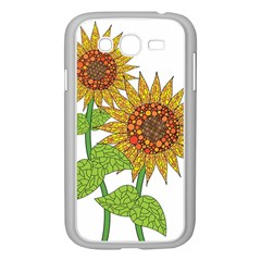 Sunflowers Flower Bloom Nature Samsung Galaxy Grand DUOS I9082 Case (White)