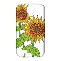 Sunflowers Flower Bloom Nature Samsung Galaxy S4 Classic Hardshell Case (PC+Silicone)