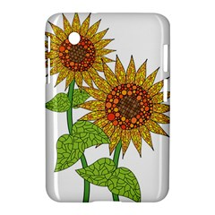Sunflowers Flower Bloom Nature Samsung Galaxy Tab 2 (7 ) P3100 Hardshell Case