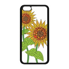 Sunflowers Flower Bloom Nature Apple iPhone 5C Seamless Case (Black)