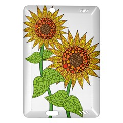 Sunflowers Flower Bloom Nature Amazon Kindle Fire HD (2013) Hardshell Case