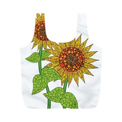 Sunflowers Flower Bloom Nature Full Print Recycle Bags (M)