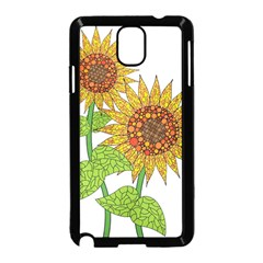 Sunflowers Flower Bloom Nature Samsung Galaxy Note 3 Neo Hardshell Case (black)