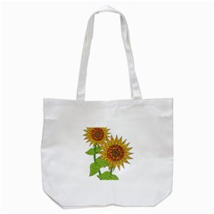 Sunflowers Flower Bloom Nature Tote Bag (White)