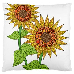 Sunflowers Flower Bloom Nature Standard Flano Cushion Case (Two Sides)