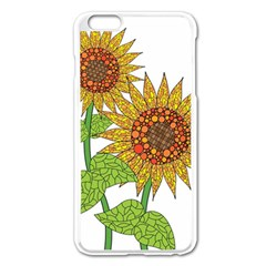 Sunflowers Flower Bloom Nature Apple iPhone 6 Plus/6S Plus Enamel White Case