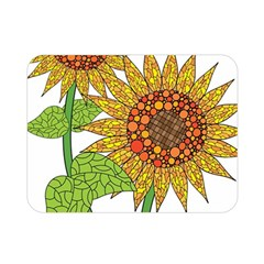 Sunflowers Flower Bloom Nature Double Sided Flano Blanket (mini)