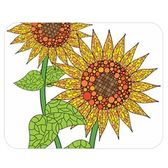 Sunflowers Flower Bloom Nature Double Sided Flano Blanket (Medium)