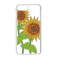 Sunflowers Flower Bloom Nature Apple Iphone 7 Plus White Seamless Case