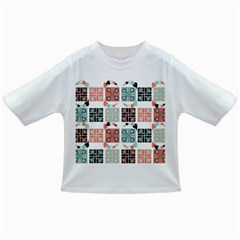 Mint Black Coral Heart Paisley Infant/toddler T Shirts