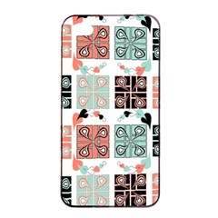 Mint Black Coral Heart Paisley Apple iPhone 4/4s Seamless Case (Black)