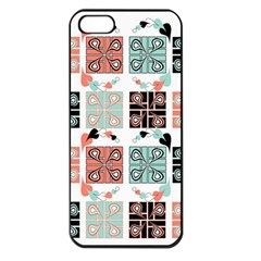 Mint Black Coral Heart Paisley Apple Iphone 5 Seamless Case (black)