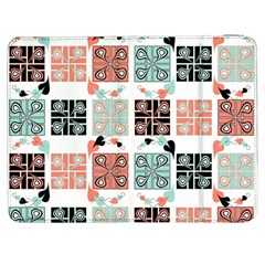 Mint Black Coral Heart Paisley Samsung Galaxy Tab 7  P1000 Flip Case