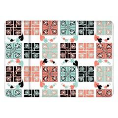 Mint Black Coral Heart Paisley Samsung Galaxy Tab 8.9  P7300 Flip Case