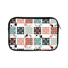 Mint Black Coral Heart Paisley Apple Ipad Mini Zipper Cases