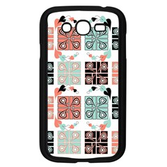 Mint Black Coral Heart Paisley Samsung Galaxy Grand DUOS I9082 Case (Black)