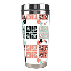 Mint Black Coral Heart Paisley Stainless Steel Travel Tumblers