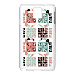 Mint Black Coral Heart Paisley Samsung Galaxy Note 3 N9005 Case (White)