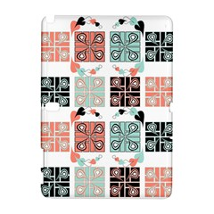 Mint Black Coral Heart Paisley Galaxy Note 1
