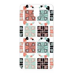 Mint Black Coral Heart Paisley Samsung Galaxy Note 3 N9005 Hardshell Back Case