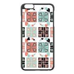 Mint Black Coral Heart Paisley Apple iPhone 6 Plus/6S Plus Black Enamel Case