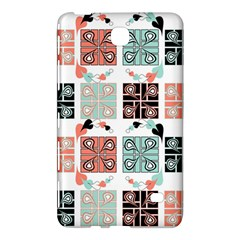 Mint Black Coral Heart Paisley Samsung Galaxy Tab 4 (8 ) Hardshell Case