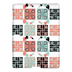 Mint Black Coral Heart Paisley Samsung Galaxy Tab S (10.5 ) Hardshell Case