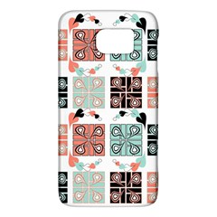 Mint Black Coral Heart Paisley Galaxy S6