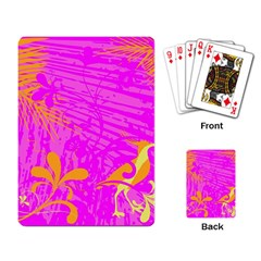 Spring Tropical Floral Palm Bird Playing Card