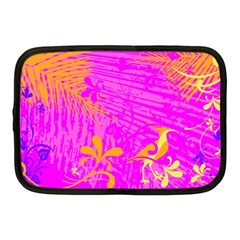 Spring Tropical Floral Palm Bird Netbook Case (medium)